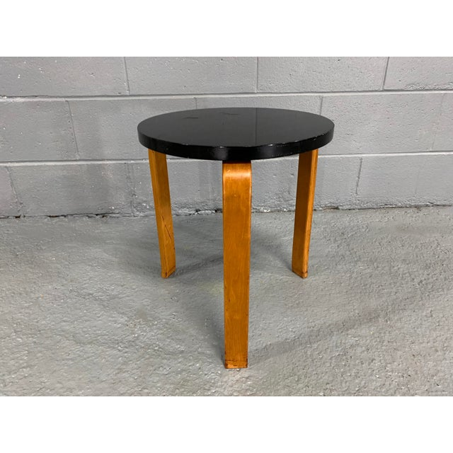 Black Alvar Aalto Birch Stool for Artek For Sale - Image 8 of 11