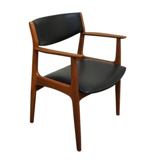 "Danish Mid Century Henning Kjærnulf Teak Desk Chair - ""Spirholm"" For Sale"