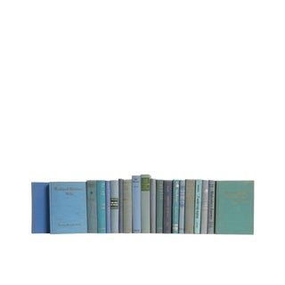 Midcentury Readings in Ocean Blue : Set of Twenty Decorative Books