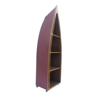 Hand Crafted Canoe Nautical Book Case/Shelving For Sale