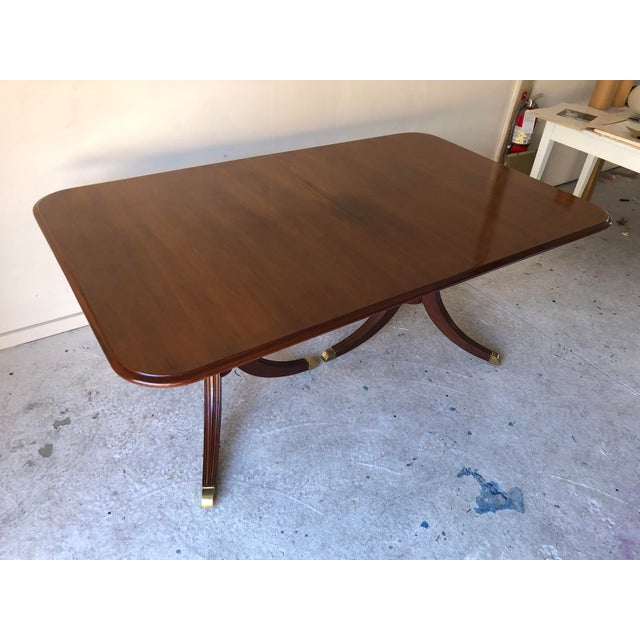 Thomasville Dining Table Fruitwood 112 X 45 Excellent For Sale - Image 11 of 12