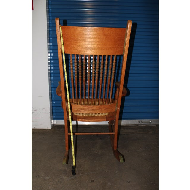 1900 - 1909 Early 1900s Wood Rocking Chair For Sale - Image 5 of 9