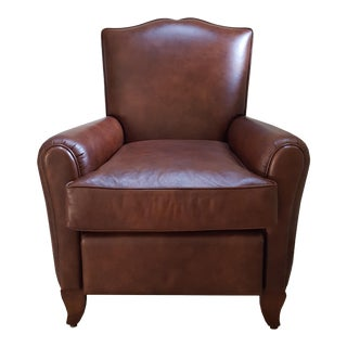 1950s Leather Club Chair For Sale