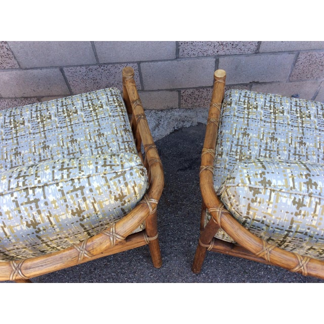 Stone Gray Vintage McGuire Chairs- A Pair For Sale - Image 8 of 11