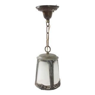 Antique Art Deco Hanging Pendant Light For Sale