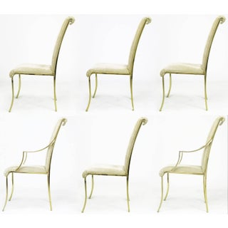 Set of Six Art Deco Revival Brass Dining Chairs by Design Institute of America Preview