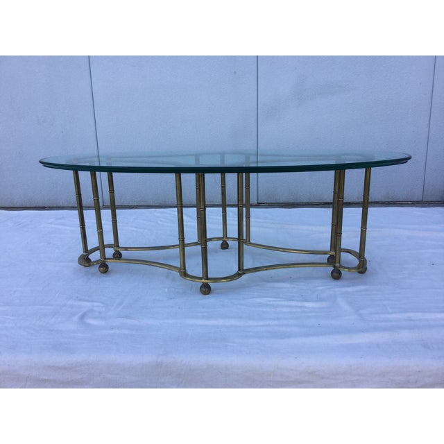 1960's Modern Mastercraft Brass Coffee Table - Image 4 of 11
