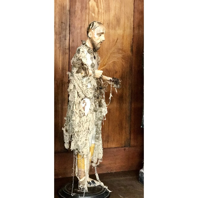 Italian Santos Carved Wood Figure For Sale - Image 10 of 12