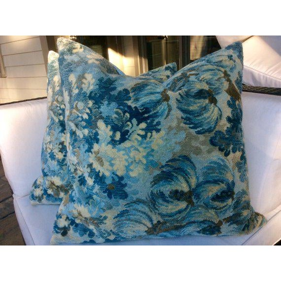 """Not Yet Made - Made To Order Brunschwig and Fils """"Great Ming"""" Twilight Velvet Pillows - a Pair For Sale - Image 5 of 8"""