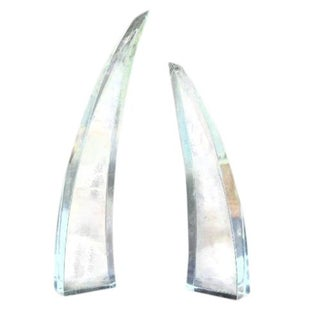 Lucite Obelisk Sculptures - A Pair