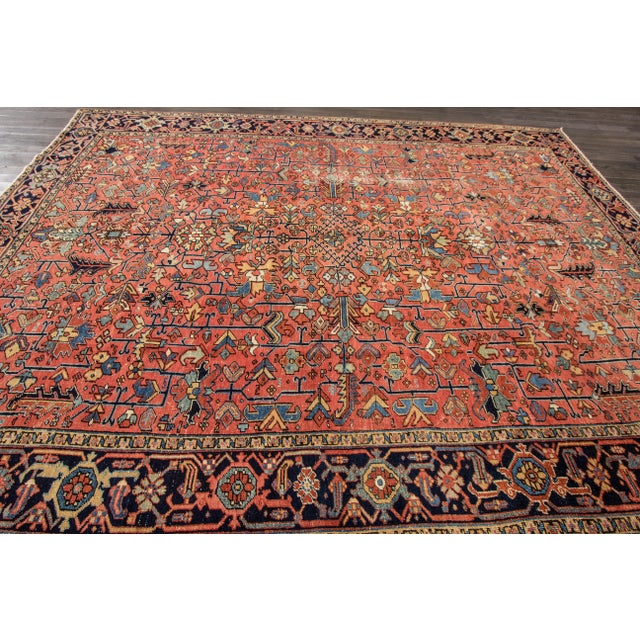 """Apadana - Vintage Persian Heriz Rug, 9'4"""" x 12'5"""" - Image 2 of 7"""