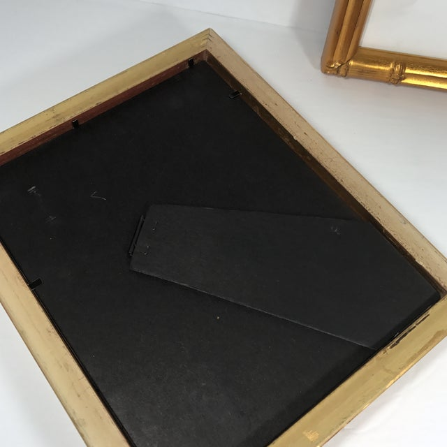 Pair of Gold Gilt Bamboo Frames - Image 7 of 11
