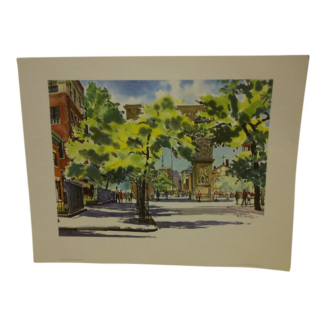 "Phil Austin ""Washington Square"" United Airlines Print For Sale"