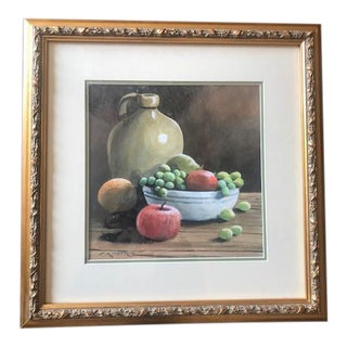 Vintage Still Life Gouache on Paper by Ferdinand Petrie For Sale