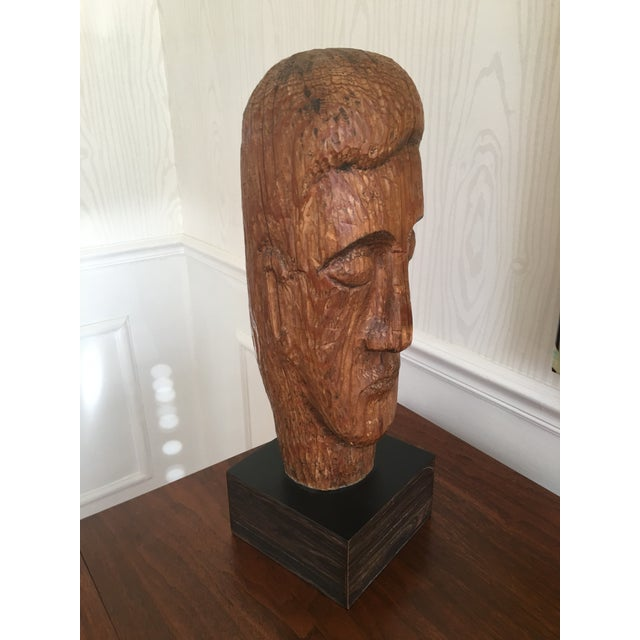 Wood Carved Statue - Image 3 of 6