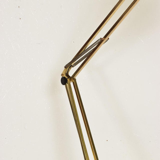 Industrial Mid-Century Modern Vintage Brass Floor Drafting Architect Lamp by Luxo For Sale - Image 3 of 8