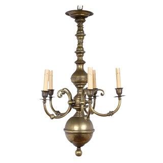Dutch Baroque Brass Chandelier For Sale