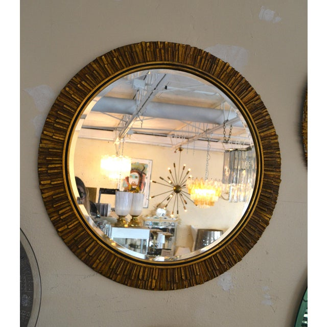 Gold Gilt Sunburst Mirror Italy For Sale - Image 8 of 8