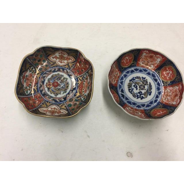 Hand Painted Japanese Imari Bowls For Sale - Image 9 of 9