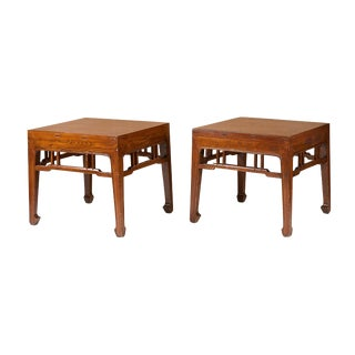 A Pair of Ming Style Low Tables For Sale