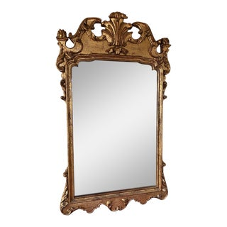 Vintage Italian Gold Gilt Chippendale Mirror For Sale