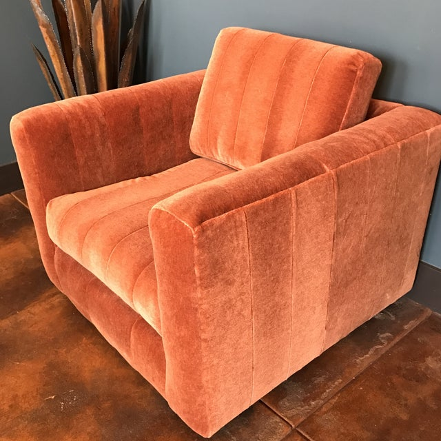 Contemporary Mohair Club Chair - Image 3 of 5