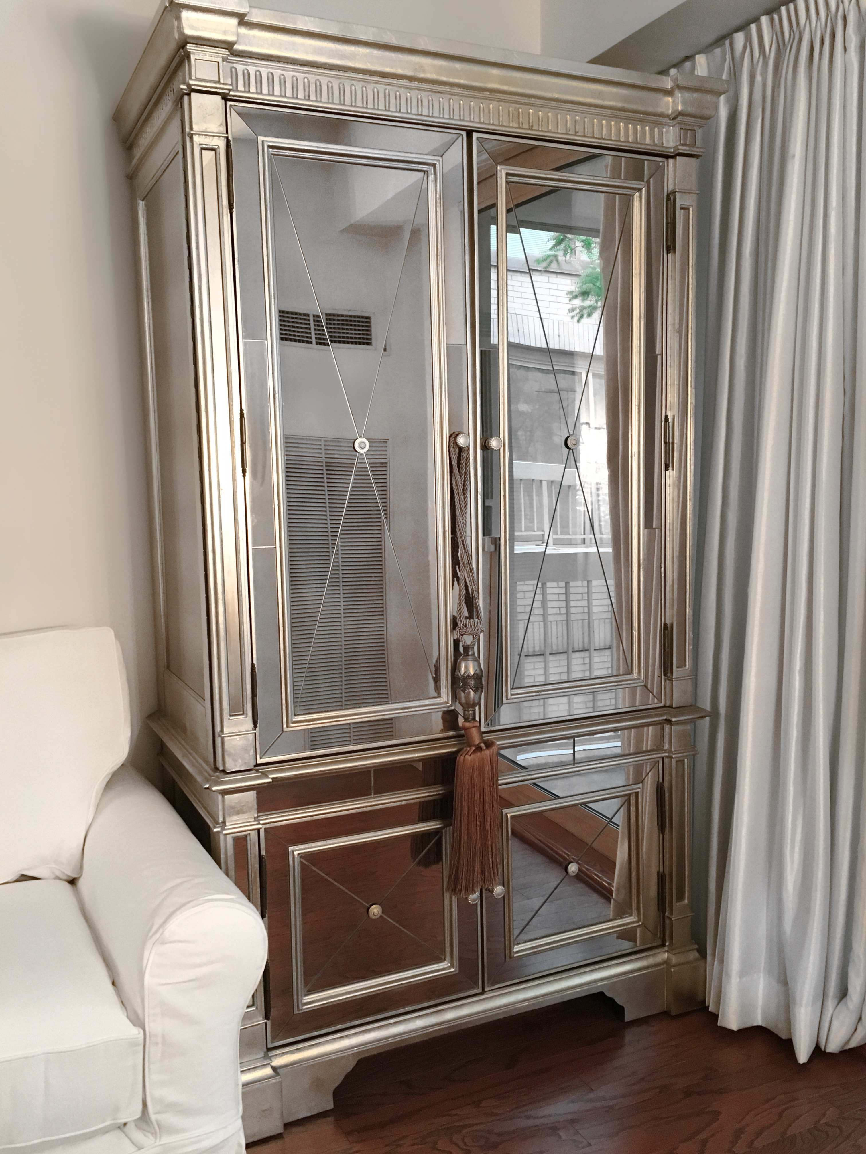 Captivating Amelie Mirrored Armoire