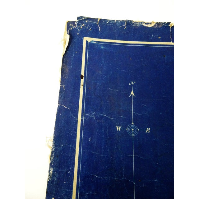 Paper Antique Blue Print Map of Southern California For Sale - Image 7 of 13
