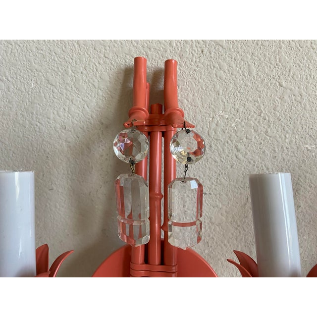 1950s Italian Bamboo Pagoda Sconces - a Pair For Sale - Image 5 of 11