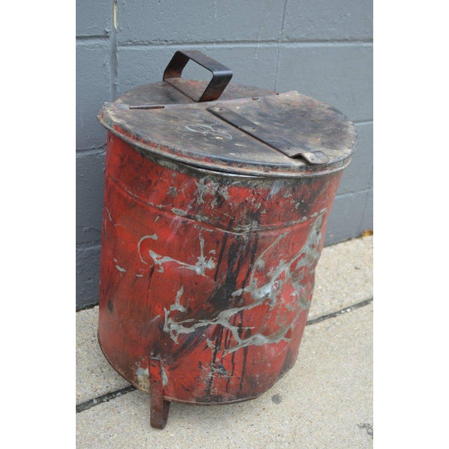Industrial Rag Bin with Hinged Lid - Image 2 of 10