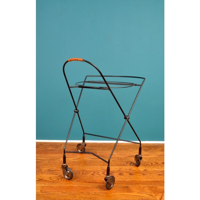 Collapsible Bar Cart, Sweden 1950s For Sale In New York - Image 6 of 11
