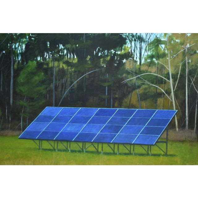 "Stephen Remick ""Back Yard Solar Panels"" Painting by Stephen Remick For Sale - Image 4 of 13"
