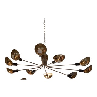 1955 Mid-Century Modern Ceiling Mounted Chandeliers, Italy For Sale