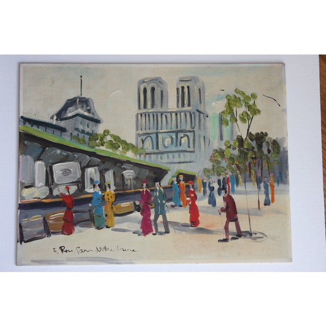 French Mid-Century Oil Painting - Image 2 of 5