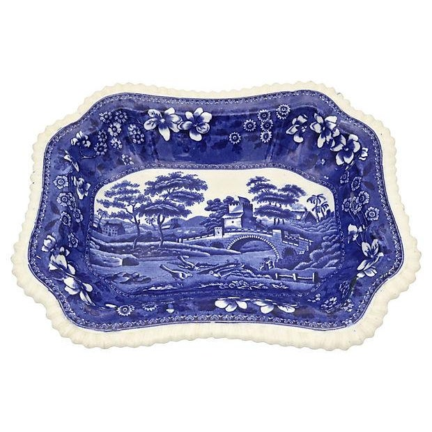 Cottage Antique Spode Tower Covered Dish For Sale - Image 3 of 5