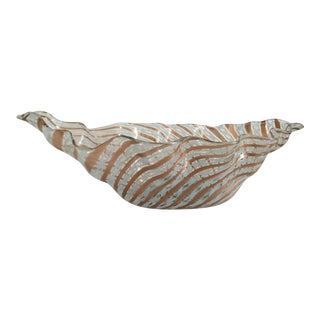 Gold Murano Glass Handkerchief Bowl by Fratelli Toso. For Sale