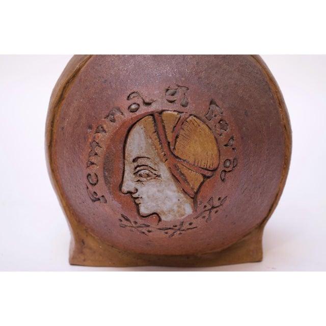 "Ceramic ""Femina El Fera"" Figural Studio Stoneware Vase / Candleholder Signed Polk For Sale - Image 7 of 13"