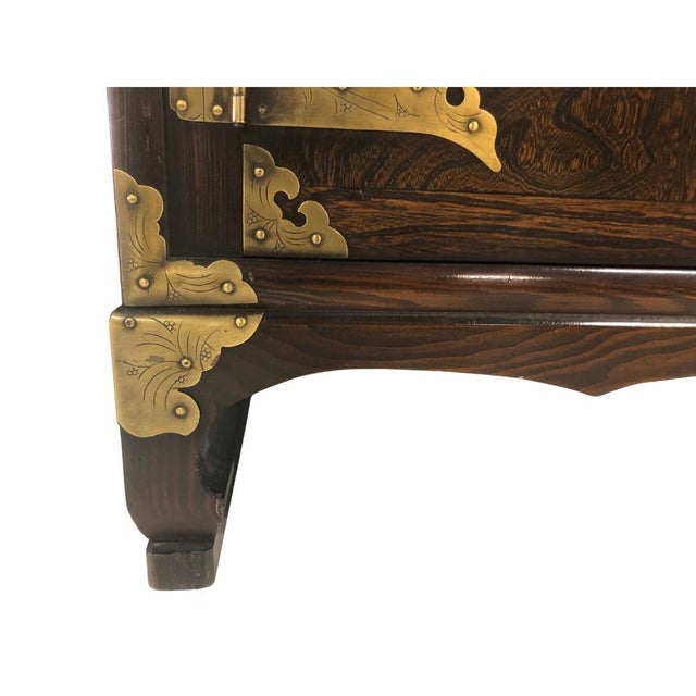 Early 21st Century Antique Korean Wooden Credenza For Sale - Image 5 of 6