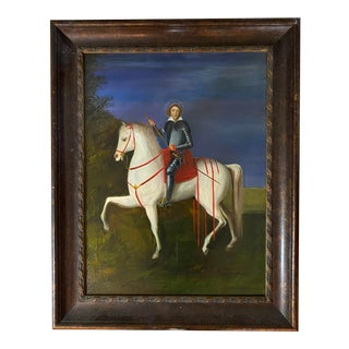 """Late 20th Century """"Portrait of King Louis IX"""" Oil Painting, Framed For Sale"""