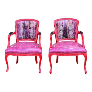 1950s Vintage Occasional Chairs- A Pair For Sale