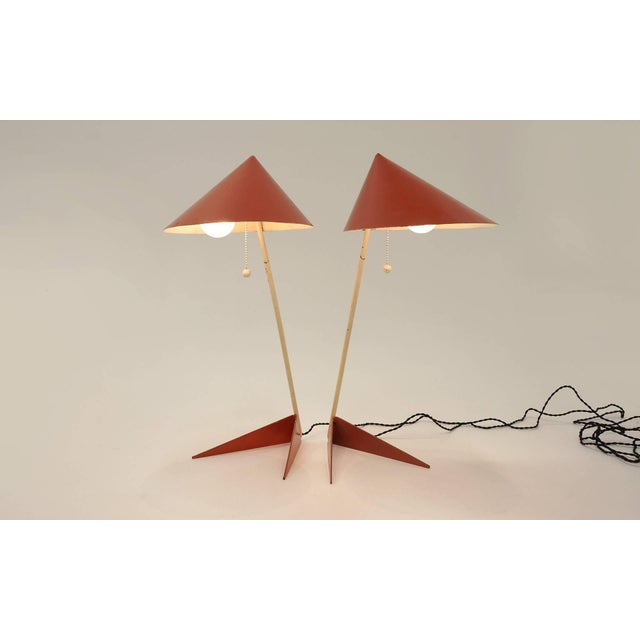 Mid-Century Modern Svend Aage Holm Sorensen Table Lamps, Denmark, 1950 - a Pair For Sale - Image 3 of 11