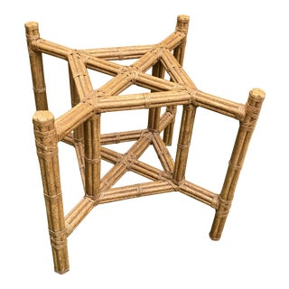 Bobo Chic Square Faux Bamboo Table Base For Sale