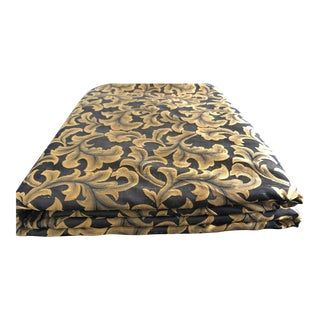 Gold and Black Florentine Silk Fabric - 17.25 Yards For Sale