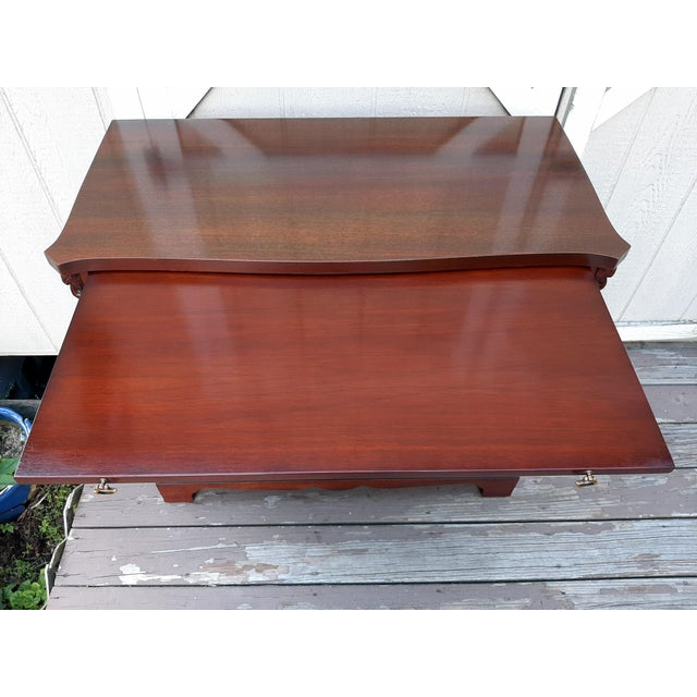 Vintage 1940's Mahogany 4 Drawer Server Accent Chest For Sale - Image 10 of 13