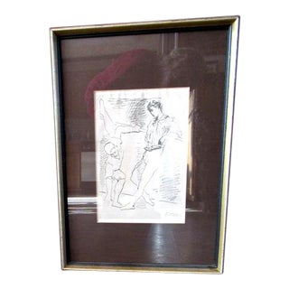 "1940s Original Pablo Picasso ""Grace Et Mouvement"" Engraving Print For Sale"