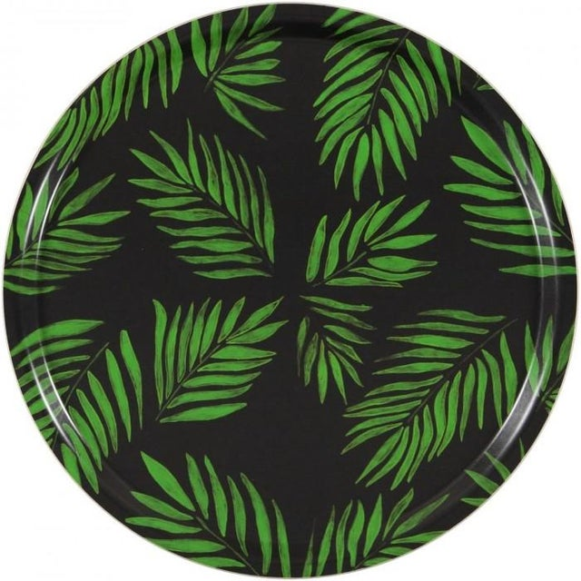 """""""Palm Beach Green"""" Round Tray - Image 1 of 2"""