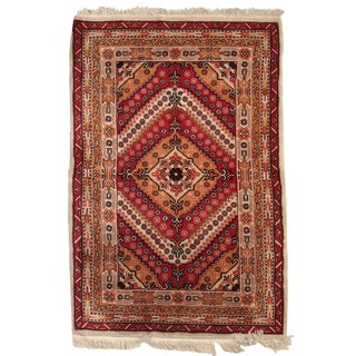 Antique Chinese Art Deco Hand Made Rug- 4' x 6' For Sale