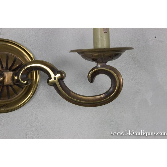 Pair of French Gilt Bronze Sconces - Image 10 of 11