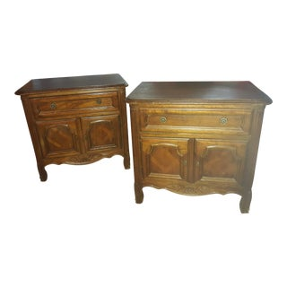 French Provincial Drexel Heritage Side Tables - a Pair For Sale