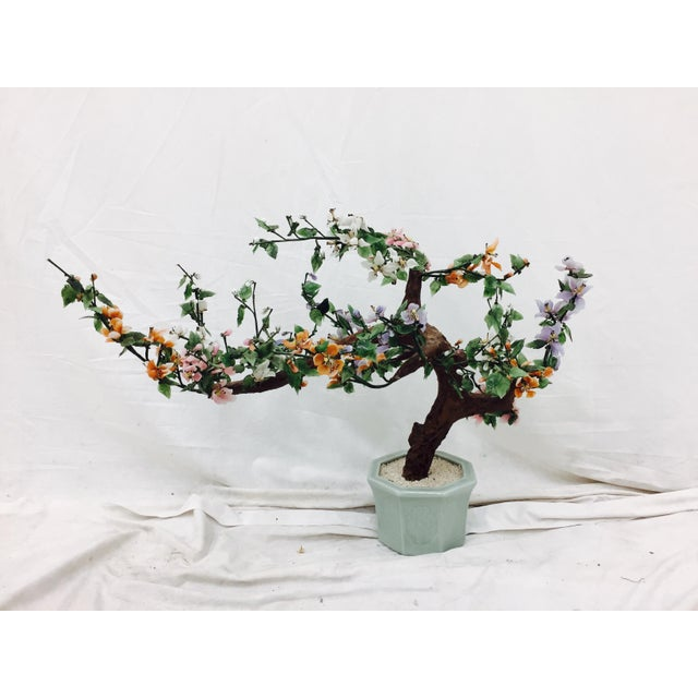 Vintage Mixed Stone Bonsai Tree Sculpture - Image 2 of 11